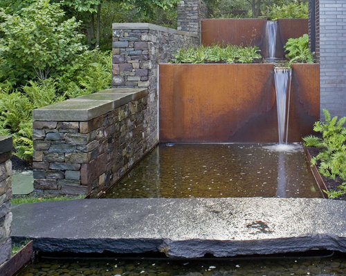Photo Of An Industrial Water Fountain Landscape In Burlington.