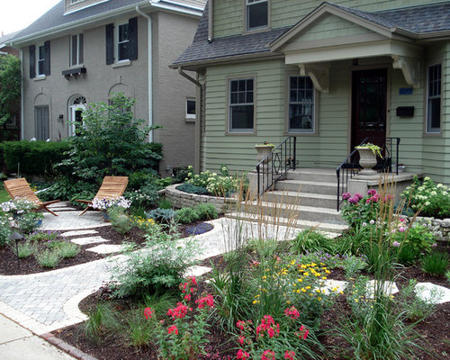 flagstone front yard patio photos - Front Patios Design Ideas
