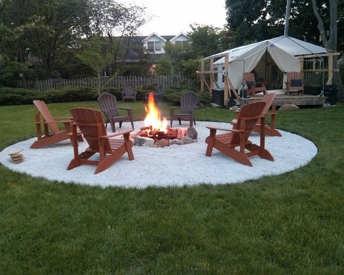 Scandinavian Backyard Landscape Ideas, Designs, Remodels & Photos