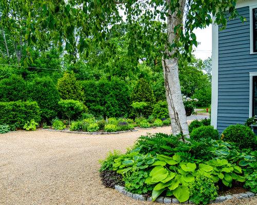 Trädgård Grus : Foton och inspiration för gårdsplaner med grus