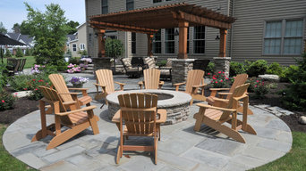 Country French Inspired Bluestone Patio