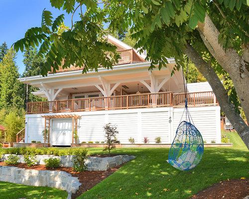 jardin bord de mer avec un mur de sout nement photos et id es d co de jardins. Black Bedroom Furniture Sets. Home Design Ideas