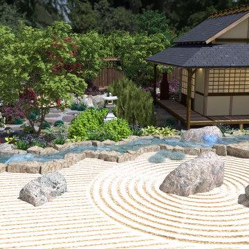 Craftsman Home with Japanese Garden