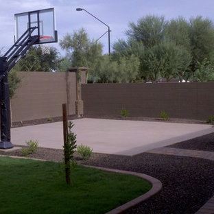 Design ideas for a large traditional full sun backyard concrete paver outdoor sport court in Phoenix.