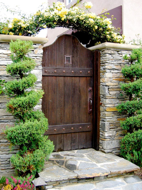 Entry gate home design ideas pictures remodel and decor for Home garden design houzz