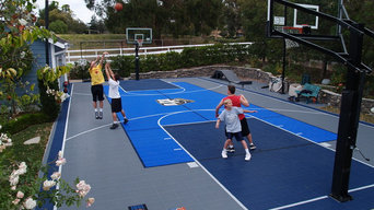 Custom Backyard Multi-Sport Court and Accessories