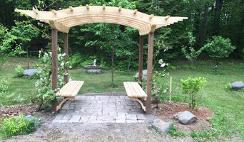 Custom Cedar and Redwood Grape Arbor