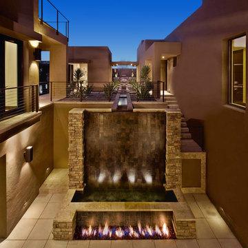 Custom Design - Courtyard - New American Home 2009