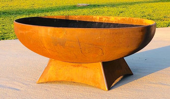 Custom Fire Pit with Silicone Bronze Accent