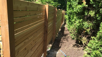 Custom Horizontal Cedar Fence