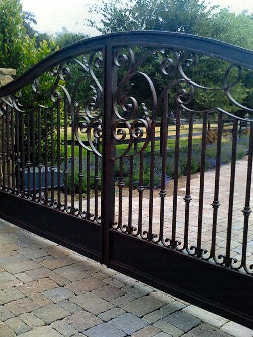 Iron Driveway Gate Houzz