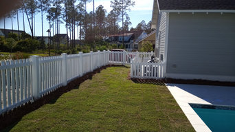 Custom KDAT Picket Fence with Gate