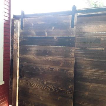 Custom Sho Sugi Bahn Style Fence