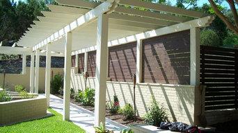 Custom Steel Panel Fence