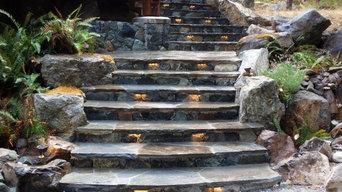 Custom Stone staircase.