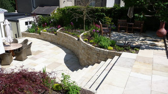 Dalkey - Sandstone steps and upper patio