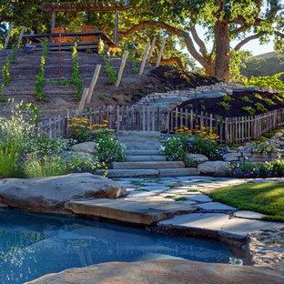 Inspiration för en lantlig trädgård