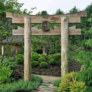 Design ideas for an asian garden in Baltimore with a water feature.
