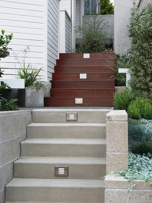 Outdoor stairs houzz for Exterior stone stairs design