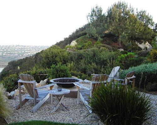 Pea Gravel Sitting Area Houzz