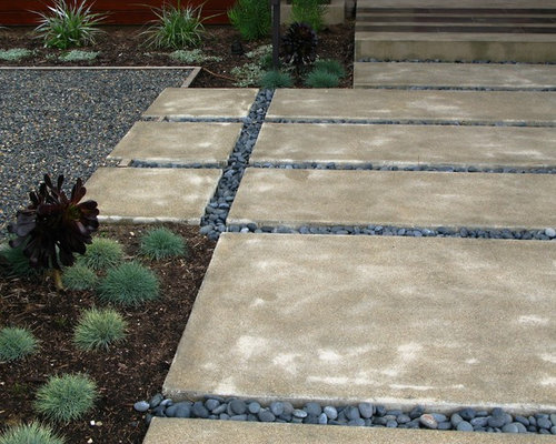 Paver With River Rock Houzz