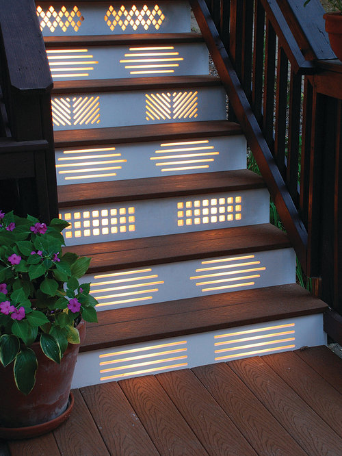 Stair risers home design ideas pictures remodel and decor - Stair riser decoration ideas ...