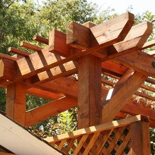 Idéer för att renovera en mellanstor bakgård i delvis sol, med grus
