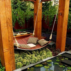 Modern Outdoor Swingsets by LilyAnn Cabinets