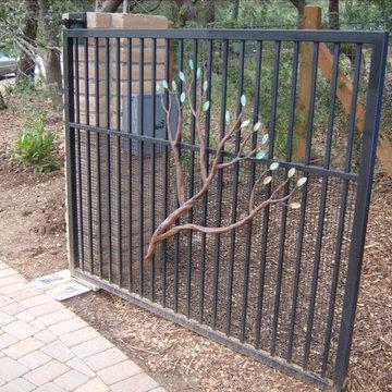 Decorative Tree on Gate