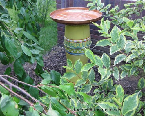 Houzz Garden Bird Bath Design Ideas Remodel Pictures