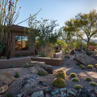 Mittelgroßer Mediterraner Garten mit Wüstengarten in Phoenix