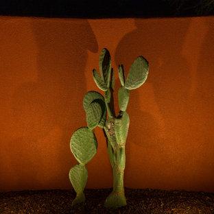 Idéer för stora amerikanska bakgårdar som tål torka, med grus