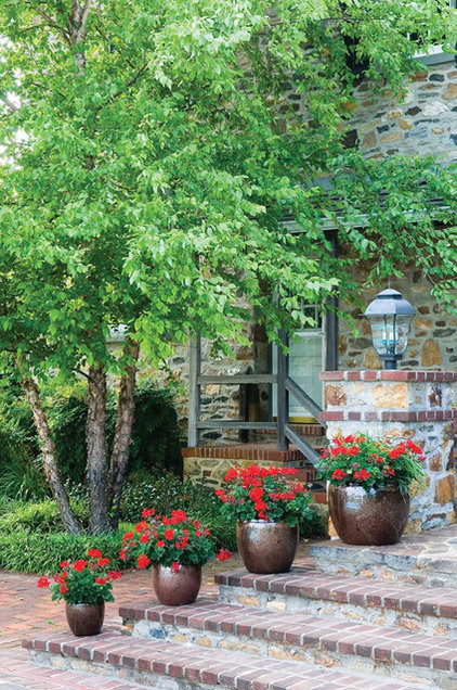 traditional entry by Wallace Landscape Associates