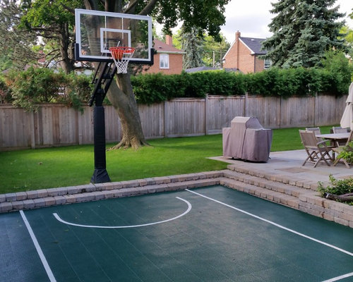 backyard basketball courts houzz. Black Bedroom Furniture Sets. Home Design Ideas
