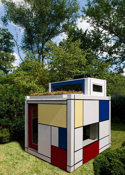 Moderne Jardin by Barnes Vanze Architects, Inc.