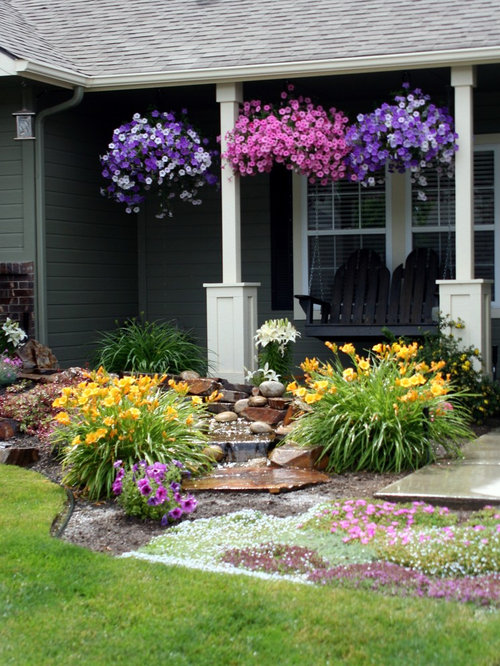 front yard sweeps lavender home design ideas  pictures  remodel and decor