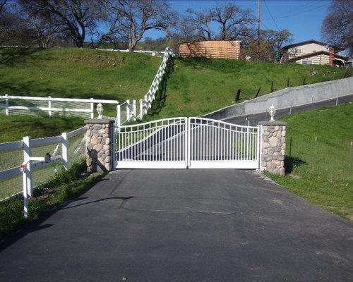 Double swing gates houzz
