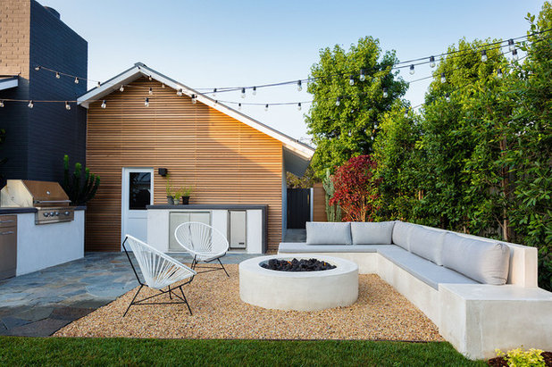 Midcentury Patio by Falling Waters Landscape