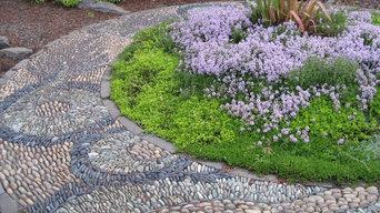 Dragon ouroboros pebble mosaic