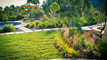 Drought Tolerant Ground Cover, Butterfly Garden and Lounging Area - Back Yard