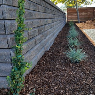 This is an example of a large traditional full sun front yard mulch formal garden in San Francisco.