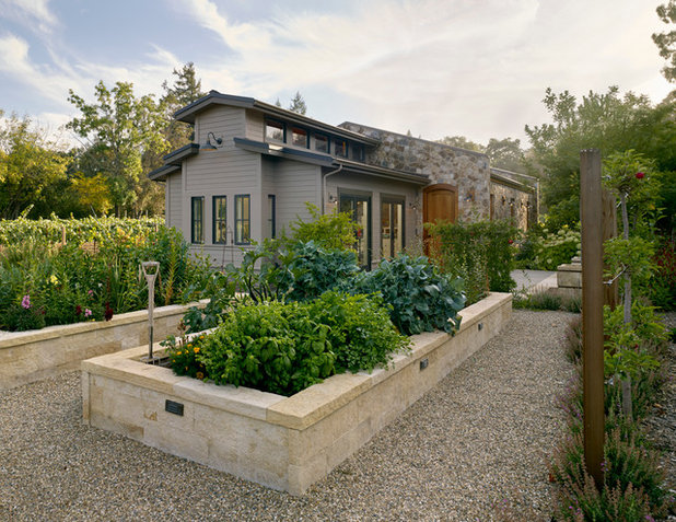 Farmhouse Landscape by Bevan Associates