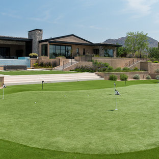 Inspiration for a transitional backyard outdoor sport court in Phoenix.