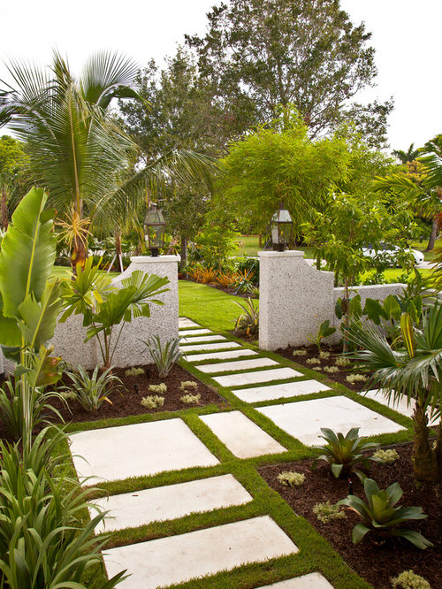 Tropical full sun landscape ideas designs remodels photos - Front garden ideas tropical ...