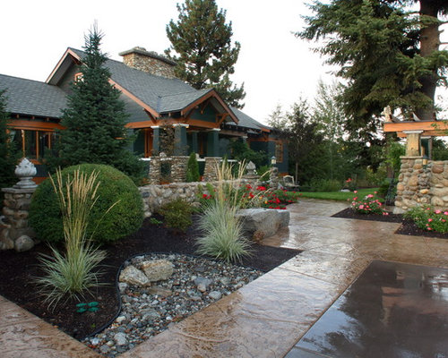 Craftsman style landscaping home design ideas pictures for Craftsman style garden designs