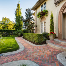 Traditional Landscape by Cornerstone Construction Services LLC