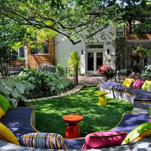 Mittelgroßer, Schattiger Stilmix Garten hinter dem Haus in Dallas