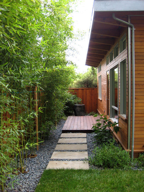 Side Yard Landscape Ideas, Designs, Remodels & Photos with a Fountain