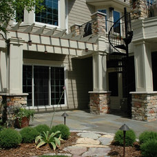 Traditional Landscape by BellaWood Builders