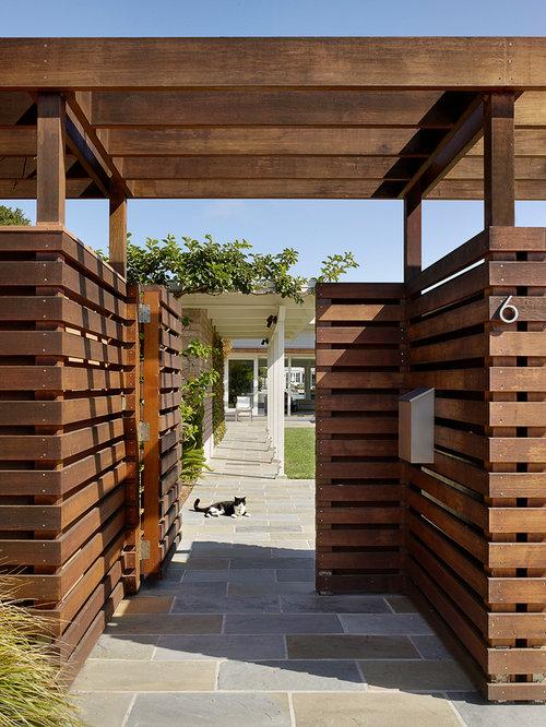 photo of a midcentury modern garden path in san francisco - Mid Century Modern Landscape Design Ideas
